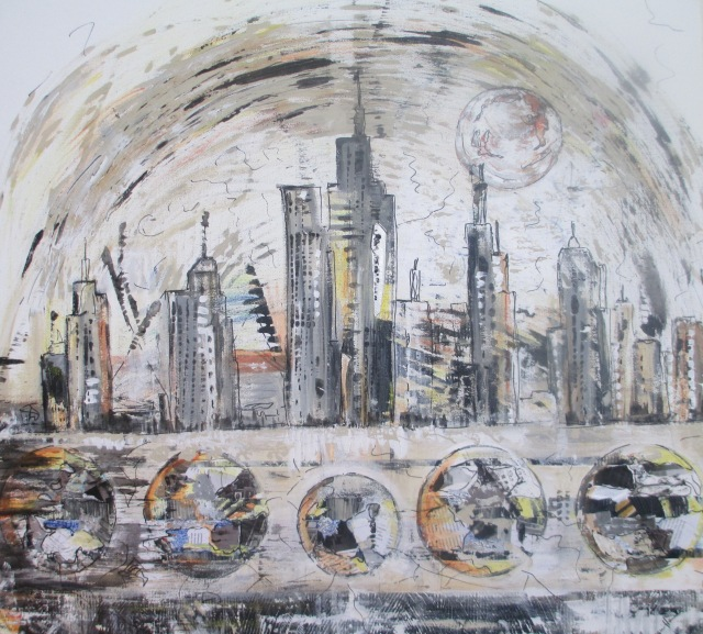Large Abstracts Series  : 'Urban Rumble' (Sold)